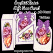 English Roses Gift Box Card
