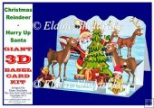 Christmas Reindeer Hurry Up Santa - Pop Up Easel Card Kit
