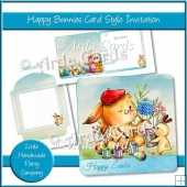 Happy Bunnies Card Style Invitation