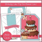 Birthday Cake Pop Out Banner Card