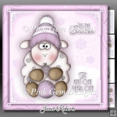 Winter Knitting Sheep Pink Mini Kit