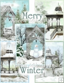 Cottage Chic MERRY WINTER Christmas Backing Paper Set