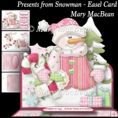 Presents from Snowman - Easel Card