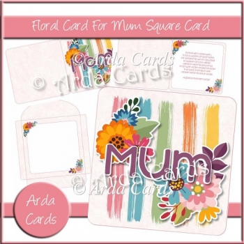 A Floral Card For Mum Square Card