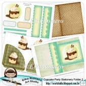 Cupcake Party - Stationery Folder 2 (5 x 7 in)