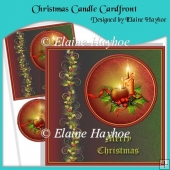 Christmas Candle Cardfront