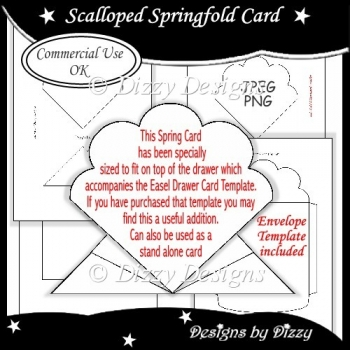 Scalloped Springfold Card Template