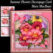 Summer Flowers Decoupage Card
