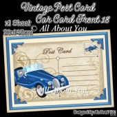 Vintage Post Card Car Card Front 18