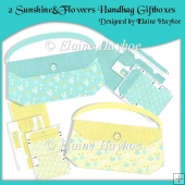 2 Sunshine and Flowers Handbag Giftboxes