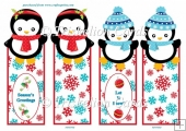 Adorable Christmas Penguins Bookmarks 1