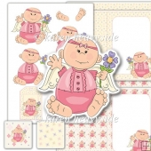 Angel Baby 1 Decoupage Set