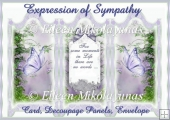 Expression of Sympathy Trifold Card Set
