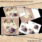 Shabby Chic Vintage Celebration 8x8 Mini Card Kit