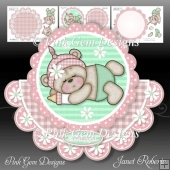 Sleeping Baby Bella Rocker Card Mini Kit