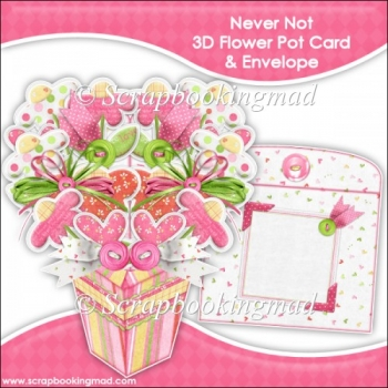 Never Not 3D Flower Pot & Envelope