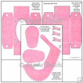 Large Baby Shoe Template And Box