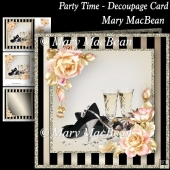 Party Time - Decoupage Card