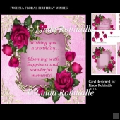 Fuchsia Floral Birthday Wishes