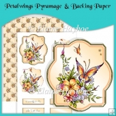 Petalwings Pyramage and Backing Paper