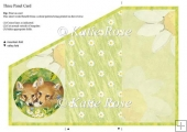 Tri Fold Meadows Edge The Look Out Foxes Three Panel Card