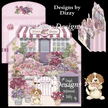 Flower Shoppe Diorama Card
