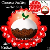 Christmas Pudding Wobble Card