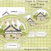 House At Christmas Large Frame Creative(Retiring in August)