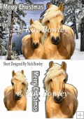 pretty palomino horses in the snow A5