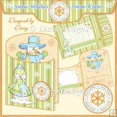 Snow Wishes - Snow Kisses Envelope Card