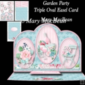 Garden Party - Triple Oval Easel Card