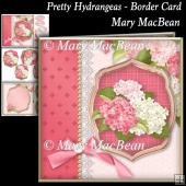 Pretty Hydrangeas - Border Card