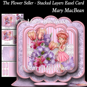 The Flower Seller - Stacked Layers Easel Card