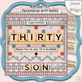 30 IN SCRABBLE 7.5 Alphabet Quick Card Kit Create Any Name