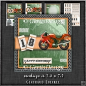 Motorbike Fan Card Topper Card Kit 1297
