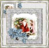 A Visit to see Santa 7x7 card with decoupage
