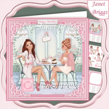 AFTERNOON TEA 7.5 Decoupage & Insert Card Kit