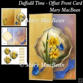 Daffodil Time - Offset Front Card