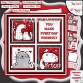 PURRFECT DAY SQUARES All Occasions 7.5 Quick Layer Card & Insert