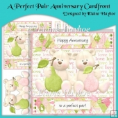A Perfect Pair Anniversary Cardfront with Decoupage