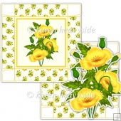 Yellow Poppy 5 x 5 Square Box