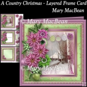 A Country Christmas - Layered Frame Card