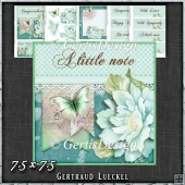 Teal Butterfly Flower Polkadots Card Topper Kit 1427