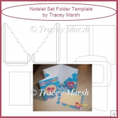 Notelet Set Folder Template - CU & PU OK