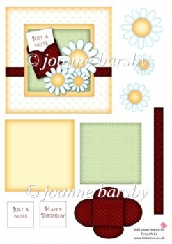 Polka Dot Daisy Card