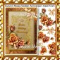 Autumn Roses Golden Anniversary Card Front