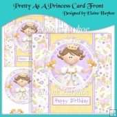 Pretty As A Princess Card Front