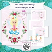 The Fairy Best Birthday Blonde Haired Fairy Card Kit