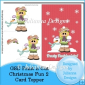 GSD Christmas Fun 2 Card Topper Cutting File
