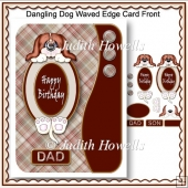 Dangling Dog Waved Edge Card Front